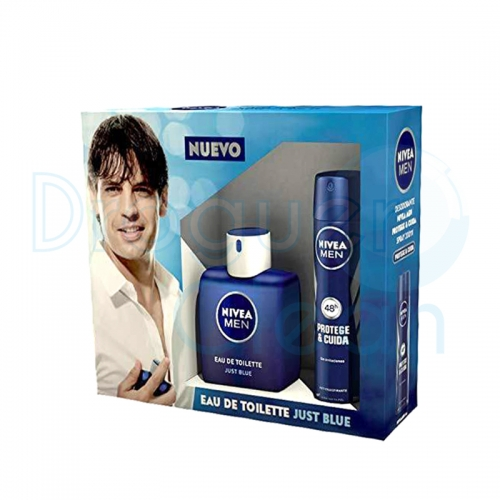 Nivea Men Just Blue Eau De Toillete Hombre 100 Ml + Desodorante 200 Ml