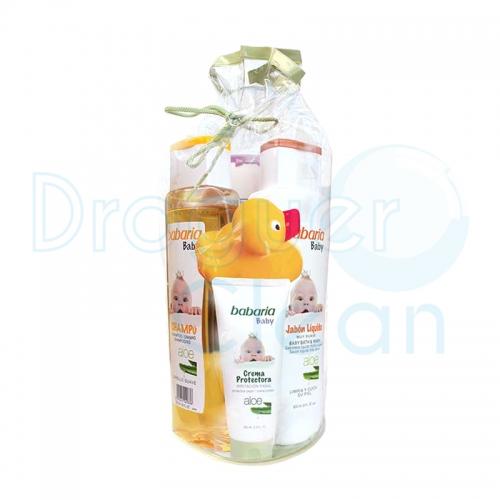 Babaria Baby Pack Agua De Colonia, Champú, Jabón Líquido Y Crema Protectora