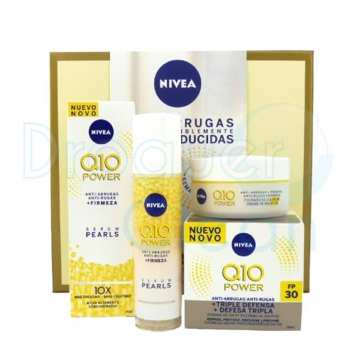 Nivea Estuche Q-10 Plus Crema Anti-Arrugas Spf30 50 Ml + Serum Perlas 30 Ml