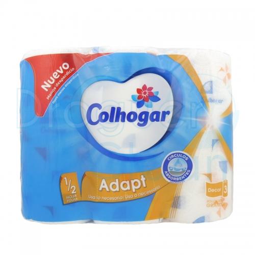 Colhogar Papel De Cocina Adapt 3 Rollos