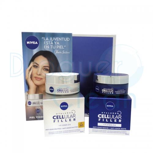 Nivea Estuche Celular Filler Crema Anti-Edad Día Fp 30 50 Ml + Serum Noche 30 Ml