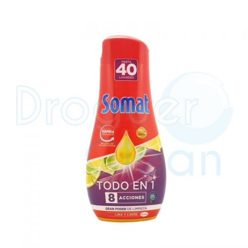 Somat-8 Gel Todo En 1 Máquina Lima Y Limón 720 Ml