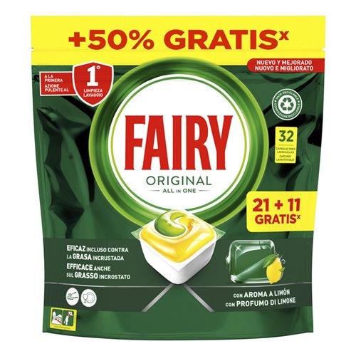 Fairy Platinum Limón Plus Máquina Cápsulas 15+15 Uds