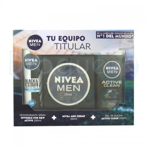 Nivea Men Creme 150 Ml, Desodorante Invisible 200 Ml Y Gel De Ducha Sport 250 Ml