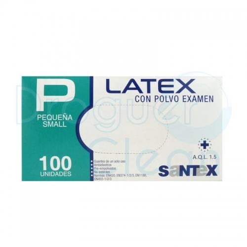 Santex Guantes Latex Con Polvo Talla Pequeña 100 Uds