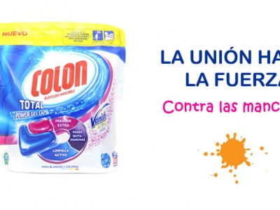 La combinación perfecta del detergente Colon y el poder quitamanchas de Vanish
